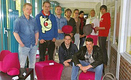 Erfolgreiches Filzprojekt mit der Firma daff/Düsseldorf - Angehende Oldenburger Raumausstattermeister gestalten innovative Produkte aus Filz